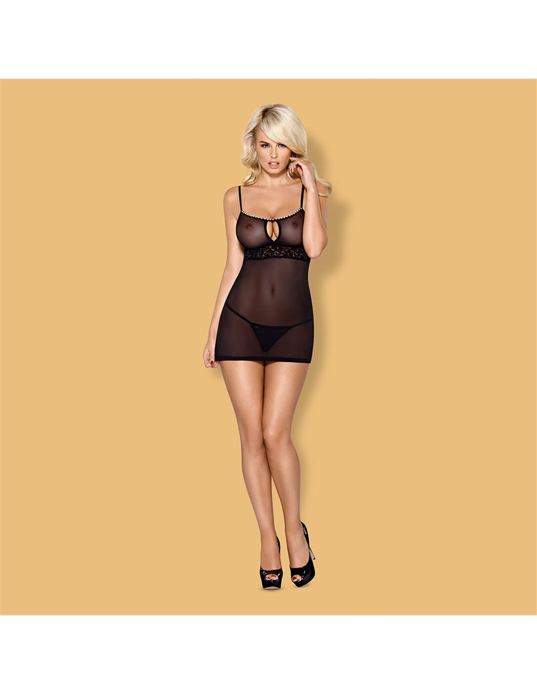 Camisa De Noite E Tanga 812-Che Obsessive - 36-38 S/M - PR2010346171
