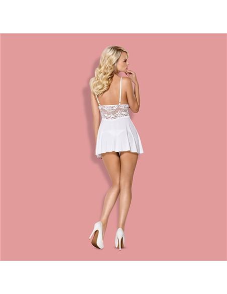 Camisa De Noite E Tanga 810-Bab Obsessive Branca - 36-38 S/M - PR2010346161