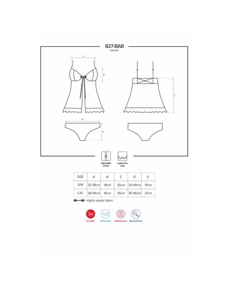 Camisa De Noite E Cueca 827-Bab Obsessive Verme - 36-38 S/M - PR2010352332