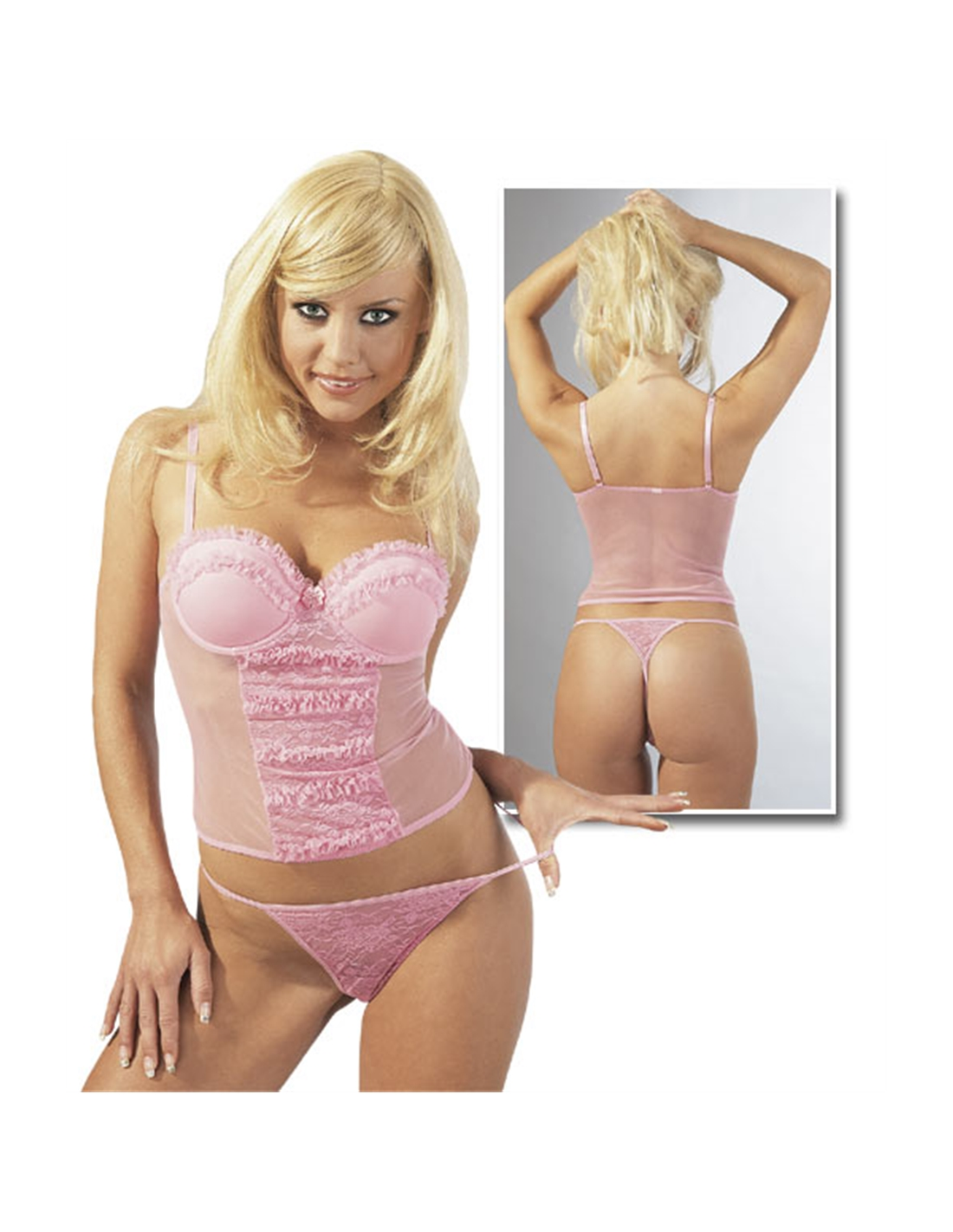 Top Rosa Com Tanga 80B/M - 80B/M - DO29000543