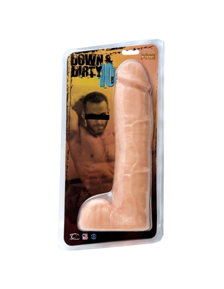 "Dildo Wildfire Down & Dirty 10"" Branco - PR2010318732"