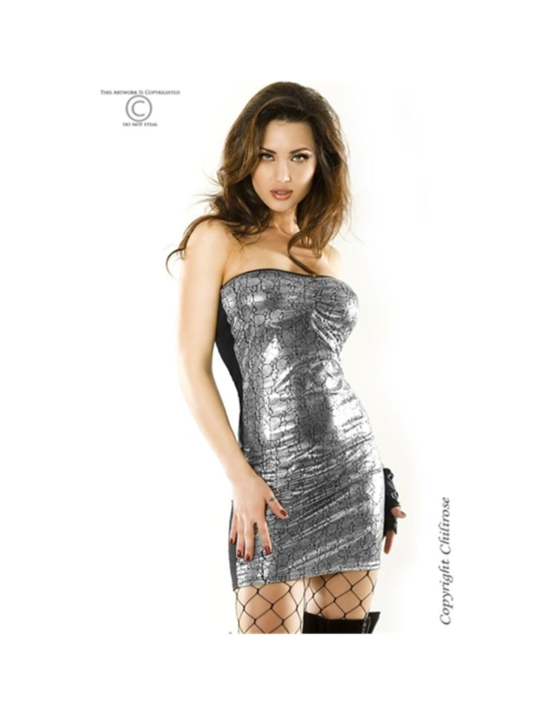 Vestido Cr-3348 Prateado - 36-38 S/M - PR2010319233