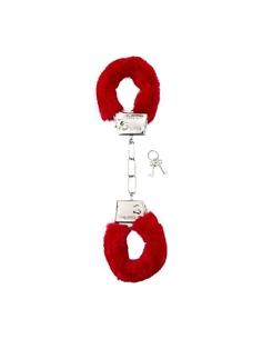 Algemas Com Peluche Furry Handcuffs Vermelhas - PR2010328655