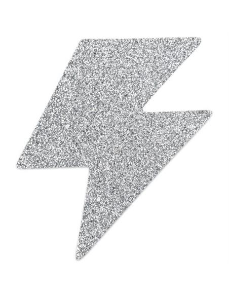 Tapa Mamilos Flash Glitter Bolt Bijoux Indiscrets Prateados - PR2010324333