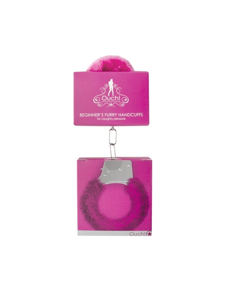 Algemas Com Peluche Beginner's Furry Handcuffs Rosa - PR2010320023