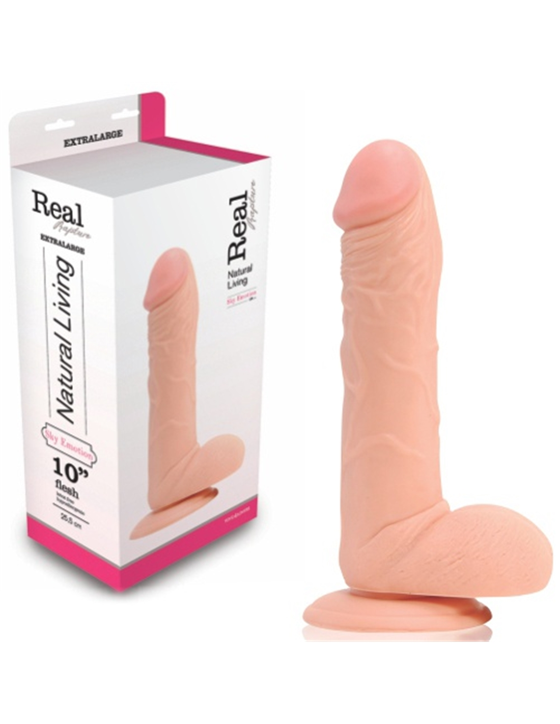 Dildo Realístico Real Rapture Sky Emotion 10'' Branco - PR2010322042