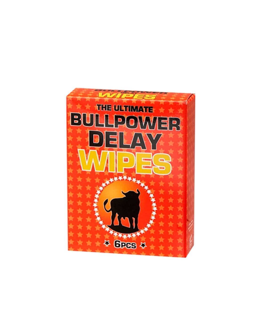 Caixa Com 6 Toalhitas Retardantes Bull Power Delay Wipes 2M - PR2010320149