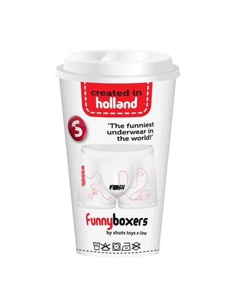 Boxer Divertido Labirinto com Finish Branco - Branco - Único #2 - PR2010305018