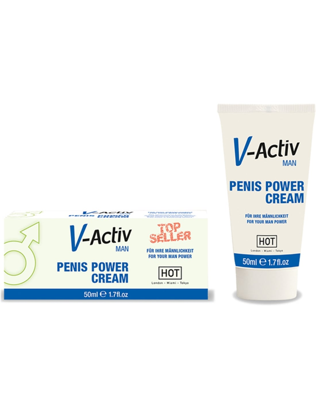 Creme Estimulante Penis Power Cream V-Activ - 50ml - PR2010300695