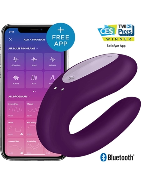 Vibrador Double Joy com App Satisfyer Roxo - PR2010357718
