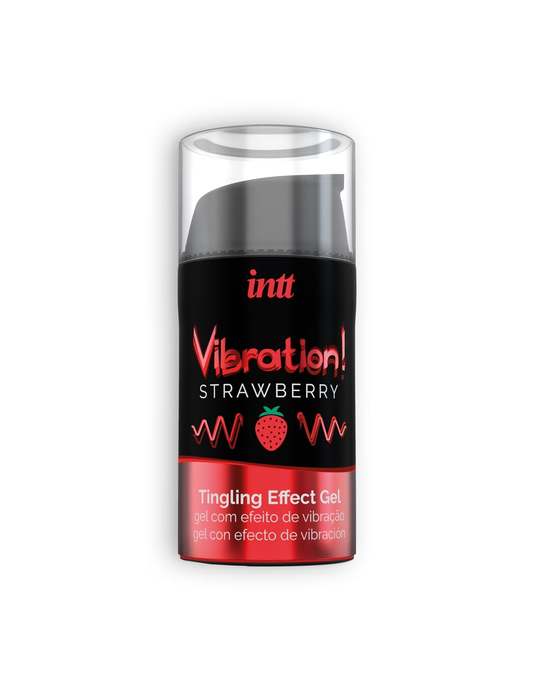 Gel com Vibração Vibration Morango Intt - 15ml - PR2010354866