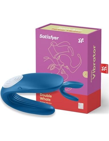 Vibrador para Casal Partner Whale com Carregador Usb - Azul - PR2010345674