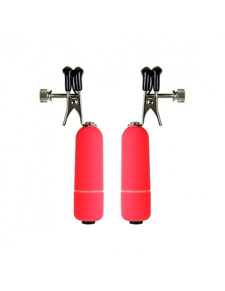 Pinças Vibratórias Para Os Mamilos Vibrating Nipple Clamps - PR2010313586